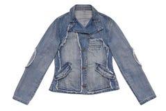 Женская куртка джинсовой ткани стоковое изображение