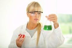 женская лаборатория Стоковое Изображение RF