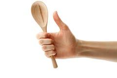 женская ложка руки Стоковая Фотография RF
