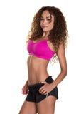 Женская модель пригодности с совершенным телом. Стоковое Фото