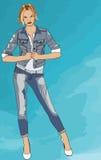 Женская модель Джина Стоковое Изображение
