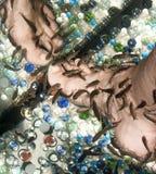 Женская нога во время rufa garra рыб pedicure Стоковые Фото