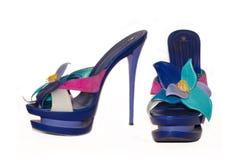 Женская обувь на пятке Стоковая Фотография