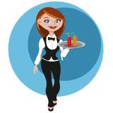 Женская официантка Стоковое Фото