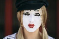 Женская пантомима Стоковое Изображение