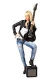 женская полнометражная панковская рок-звезда Стоковое Изображение