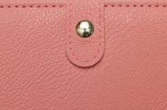 Женская розовая текстура портмона Стоковое Изображение