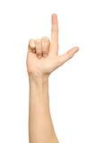 Женская рука руки указывая вверх Стоковая Фотография RF