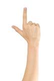 Женская рука руки указывая вверх Стоковое Фото