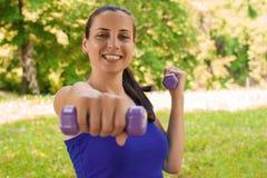 Женская серия фитнеса Стоковая Фотография