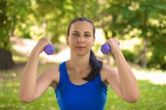 Женская серия фитнеса стоковые изображения rf