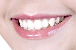 женская симпатичная усмешка Стоковое Изображение RF