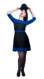 Женская стойка с шлемом Стоковые Фото