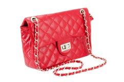 Женская сумка красного цвета Стоковые Изображения RF