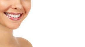 Женская усмешка Стоковое фото RF