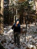 женская фара hiker Стоковые Изображения