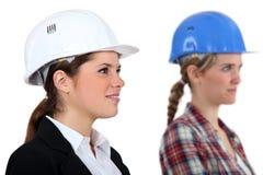 Женские архитектор и строитель Стоковые Изображения