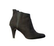 Женские ботинки лодыжки осени Стоковое Фото