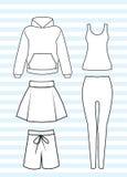 Женские вскользь одежды Стоковые Фотографии RF