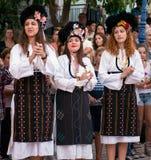 Женские греческие танцоры Стоковая Фотография