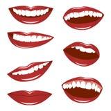 женские губы Стоковые Изображения