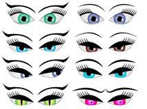Женские глаза шаржа Стоковое фото RF