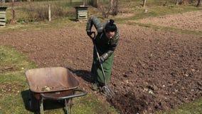 Женские делая садовничая работы сток-видео