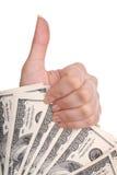 женские деньги руки Стоковое Изображение RF
