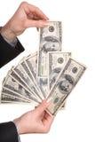 женские деньги рук Стоковое Фото