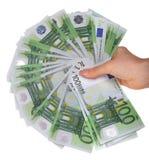 женские деньги рук Стоковое Изображение RF