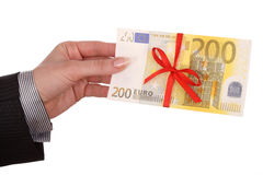 женские деньги рук Стоковые Фотографии RF