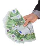 женские деньги рук Стоковая Фотография
