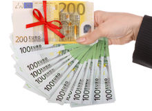 женские деньги рук Стоковые Фото