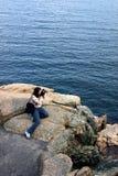 женские детеныши фотографа Стоковые Изображения RF