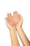 Женские жесты рукой, конец вверх стоковое изображение