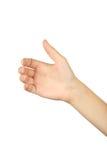 Женские жесты рукой, конец вверх стоковое изображение rf