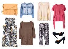 Женские изолированные одежды ` s женщин Стоковое Изображение
