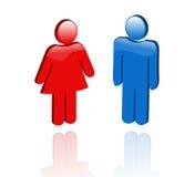 женские иконы 3d мыжские иллюстрация штока