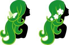 женские иконы Стоковое Изображение