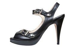 женские кожаные ботинки Стоковое Фото