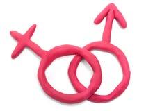 женские мыжские знаки Стоковое Фото