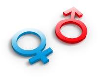 женские мыжские символы Стоковые Изображения RF