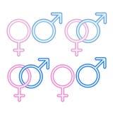 женские мыжские символы Стоковые Фотографии RF