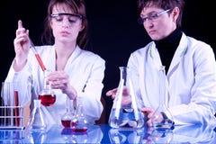 женские научные работники стоковое фото