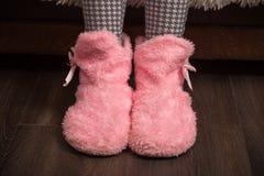 Женские домашние ботинки Стоковые Фото