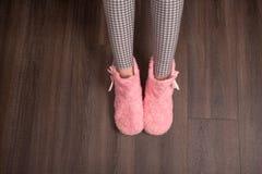 Женские домашние ботинки Стоковая Фотография
