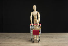 Женские покупки манекена Стоковое Изображение