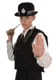 женские полиции Великобритания офицера Стоковая Фотография RF