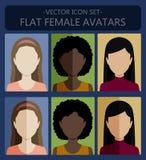 Женские плоские воплощения Стоковые Изображения RF