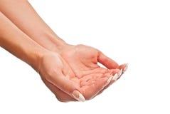 женские раскрытые руки стоковые фотографии rf